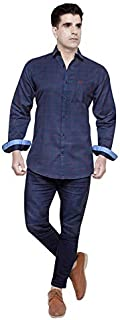 Cotton Leaf Apparels Mens Full Sleeves Casual Checkered Cotton Shirt