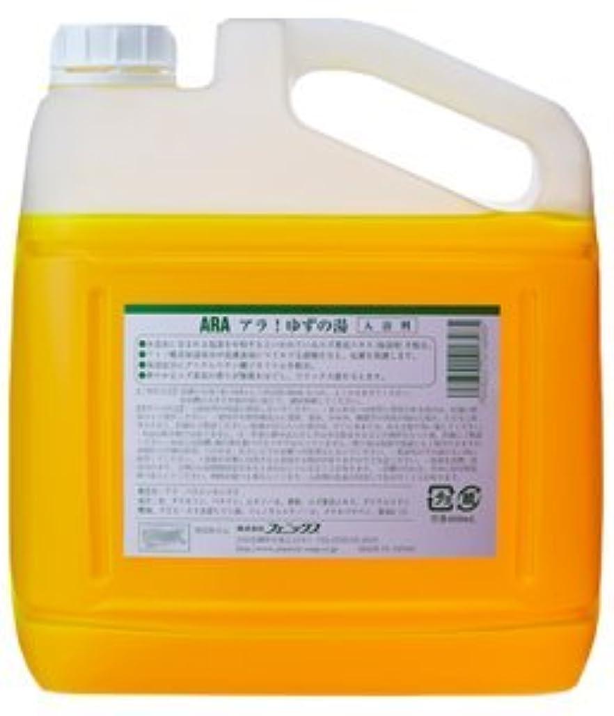 有彩色の市民不良品【ケース販売】アラ!ゆずの湯 液体入浴料 4L×4本
