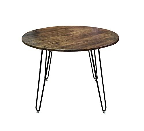 ASPECT Brockton Round Vintage Dining Table W/Hairpin Legs (100 dia x76(H) cm), Engineered Wood