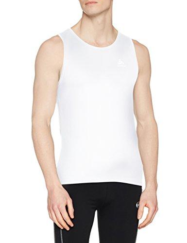 Odlo Herren SUW TOP Crew Neck Singlet Active F-Dry Light Unterhemd, White, S