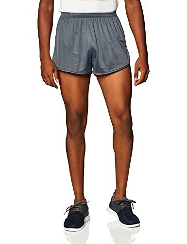 Soffe Men's Ranger Panty Running Short,Gunmetal,Small