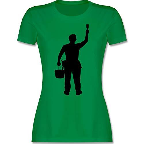 Handwerk - Maler - S - Grün - Shirt grün Damen - L191 - Tailliertes Tshirt für Damen und Frauen T-Shirt