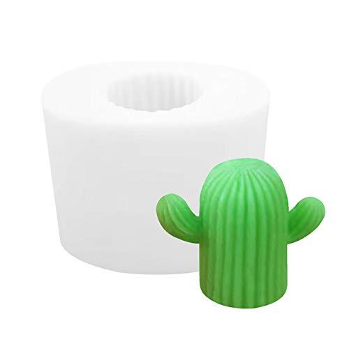 Silikonform 3D Kaktus Kerzen Gießform Kuchenformen Für Kinder, Zur Herstellung Von Kuchen, Seifen, Puddings, Pralinen, Kerzen, Gelees, Fleischigen Blumentöpfen, Aromatherapie-Steinen