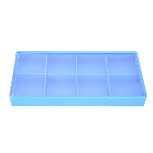 Caja de almacenamiento con contenedor organizador, caja de almacenamiento de plástico con 8 rejillas, caja organizadora de joyas, herramientas de contenedor, para almacenamiento de piezas de joyería y
