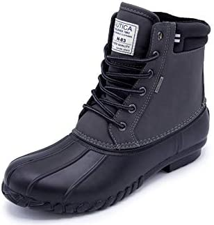 Nautica Mens Channing Waterproof Snow Insulated Duck Boot Big and Tall Wide Width Charcoal Black product image