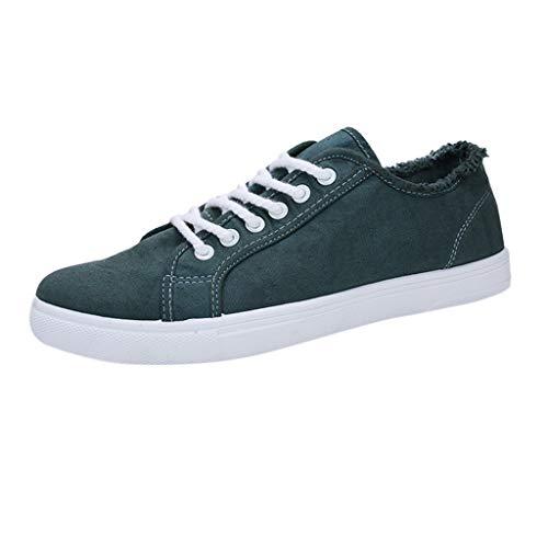 Zapatos de Casuales Hombre Estudiante Zapatos Blancos Deportivos Running Fondo Blando Aire...
