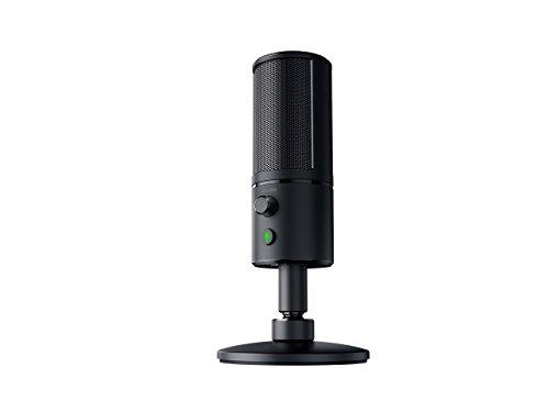 Razer Seiren X: Supercardiod Pick-Up Pattern - Condenser Mic - Built-In Shock Mount - Professional Grade Streaming Microphone - RZ19-02290100-R3U1 (Renewed)