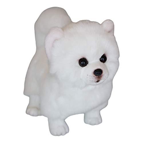 GUMEI de Hecho a Mano simulación Perro Pomerania muñeca de Juguete de Peluche Animal de Peluche