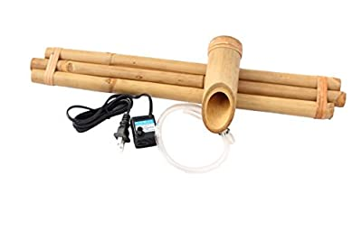 """Bamboo Accents Water Fountain for Yard, Indoor/Outdoor Fountain, 18"""" Wide Three-Arm Style Base, Smooth Split-Resistant Bamboo to Create Your Own Zen Fountain"""