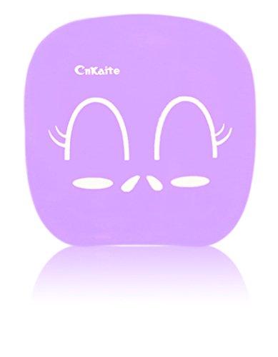 Aufbewahrungsbox für Kontaktlinsen - Reiseset - Box - Face/Smiley - Lila/Violet