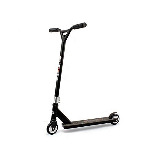 Youpin Street Suring Stunt Scooter Freestyle Kick Roller - Patinete de aleación de aluminio, 100 mm, ruedas de poliuretano Pro Extreme Sports (máx. 30 km/h), color negro
