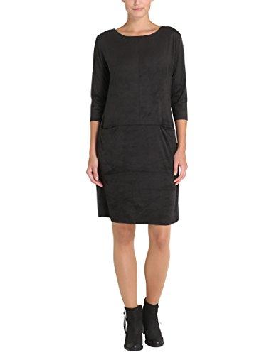 Berydale Damen Kleid in Lederoptik, Schwarz, M