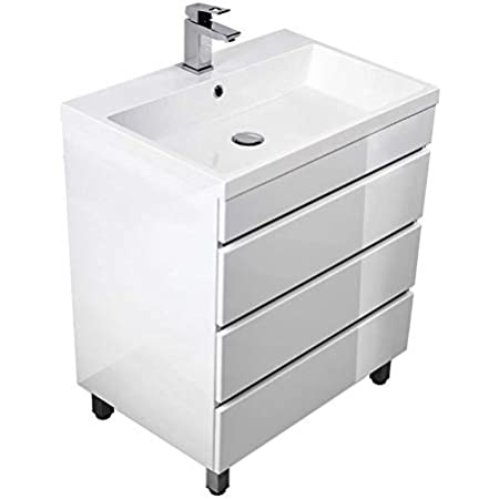Bathroom Set With Bathroom Sink 70 Cm X25cf With Cabinet In High Gloss White