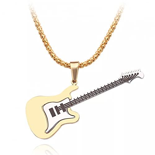 RTEAQ 2 Piezas Moda Collar Joyas Gargantilla Mini Collar de Guitarra eléctrica,...