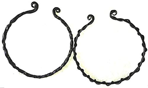 Hand Forged Viking Torc Celtic Necklace (Set of 2)