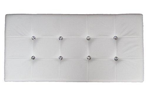 Russo Tessuti Pouf Puff Panca Swarovski Contenitore Sgabello Scatola Pieghevole Tessuto-Bianco