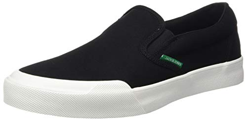 JACK & JONES Herren Jfworson Canvas Slip Sneaker, Grau (Anthracite), 43 EU