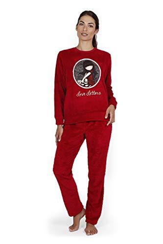 Pijama GORJUSS Mujer Burdeos Coralina Corazones (S)