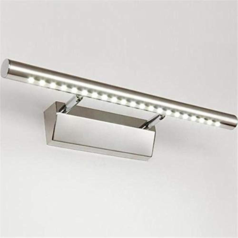 XY&XH Wandlampe, AC 85V-265V 5W Naturwei Edelstahl LED Spiegel Frontleuchte LED Badezimmer Wandleuchte, kaltwei, 5W, 40cm