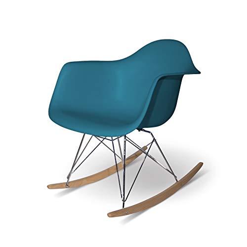 Aryana Home ARYABA013-Chaise à Bascule Réplique Eames 62,5x69x79,5 Turquesa océano