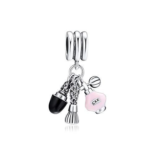 LILANG Pandora 925 Jewelry Bracelet Natural Fit Argent Plata de Ley Cosméticos Cristales Perfume Femenino Abalorios para Hacer Kralen Adecuado para Mujeres Regalo de Bricolaje