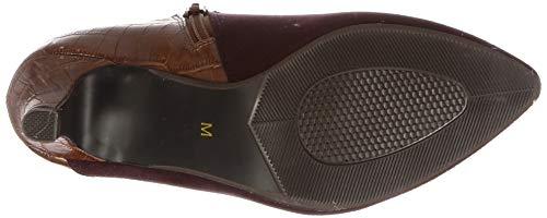[スタイルジェリービーンズ]ブーツクロコ型押しコンビブーティレディースワインC23.0~23.5cm