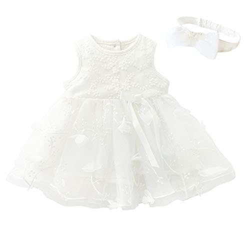 MEIbax Babykleidung MEIbax Kinder Baby Mädchen Tutu Prinzessin Bowknot ärmellose Blumenkleider Taufkleid Mini Ballkleider Partykleid