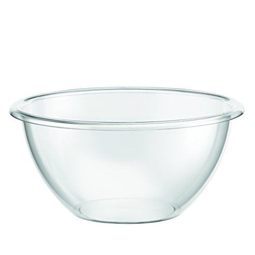 Bodum Bistro insalatiera (senza BPA materia l, leggero, impilabile, 12cm)–trasparente, Vetro, transparent, 23 cm