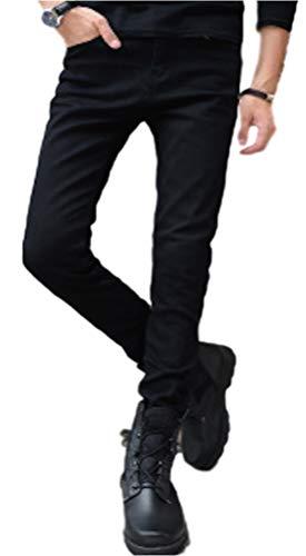 [アルヴィレオ] ALVIREO デニム パンツ メンズ ストレート 細身 スキニー ダメージ ブランド ストレッチ テーパード ダメージ加工 ウエストゴム 黒 冬 大きい サイズ ジーンズ 白 ブラック 厚手 スリム ボトムス 美