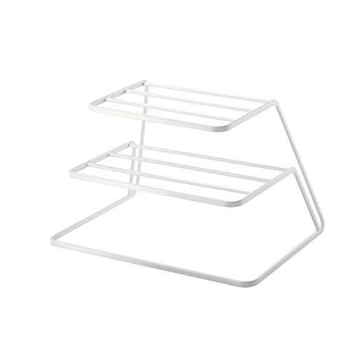 JYDQM Blanco Estante for Platos, Cocina escurridor Vaso y del Plato Caja de Almacenamiento, la Cocina for Guardar Accesorios Organización