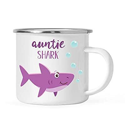 Andaz Press Baby Shark Family Campfire Coffee Mug Collection