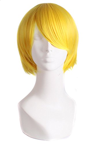 MapofBeauty 12'/30cm Hair Cosplay Costume Role Play Wig (Yellow)