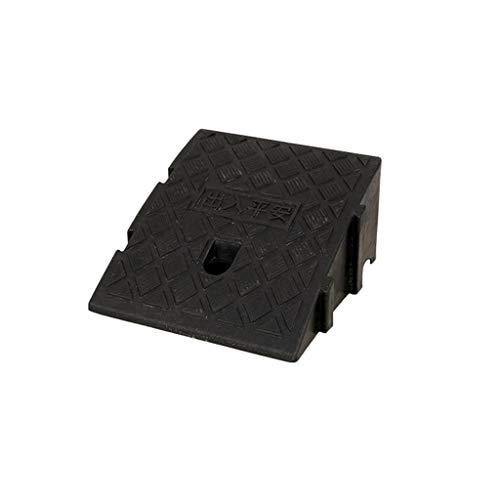 Rampen für Rollstühle, Terrassen-Rampen an der Tür, leichter Kunststoff, für den Innenbereich, Babywagen, Roller, Bergauflage, Höhe: 7 cm/11 cm/13 cm, praktisch (Farbe: Schwarz, Größe: 25 x 27 x 7 cm)