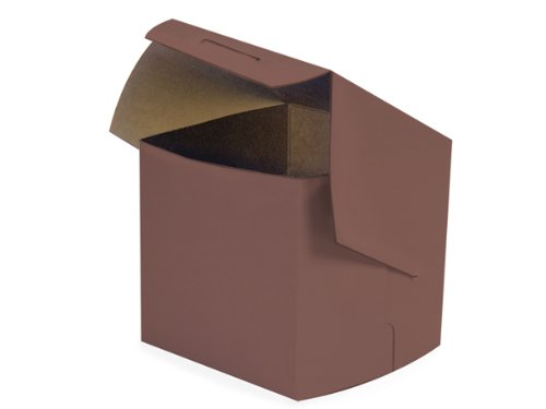 Bakery Boxes - 4x4x4 Chocolate Bakery Boxes 1 - piece Lock Corner Box - (200 Per Pack) - WRAPS - BBCH444 by Nas