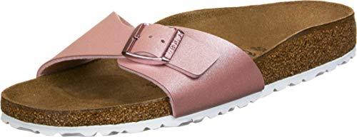 BIRKENSTOCK Damen Mules Madrid Birko-Flor ICY Metallic Old Rose Sandale, 38 EU