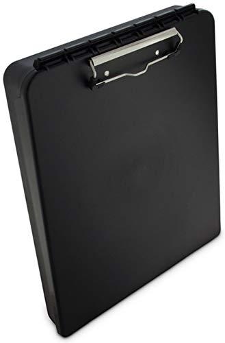 Läufer 00468 DeskMate Portable Desktop Kunststoff-Klemmbrett mit Innenfach, schwarz