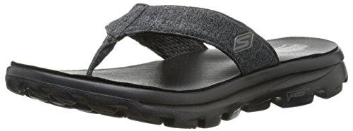 Skechers Go Walk Move Solstice Womens Flip Flop Sandals Black/White 9