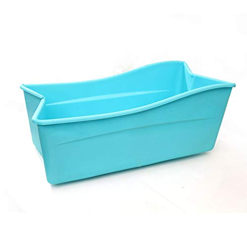 bañera Kinder Und Erwachsene Badewanne Faltbaren Große Badewanne Baby Badewanne Pool Erwachsenen Badewanne Zu Hause (farbe: Blau, Größe: 76 * 40 * 32 Cm)
