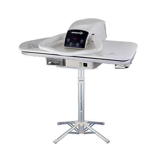 Speedypress - Prensa de planchado a vapor 81HD (81 cm, con soporte, incluye accesorio de plancha, filtro de agua antiescala, cubierta de repuesto y fieltro de espuma)