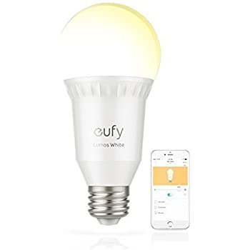 eufy by Anker, Lumos Smart Bulb - White, Soft White (2700K), 9W, Works with Amazon Alexa, No Hub Required, Wi-Fi, 60W Equivalent, Dimmable LED Bulb, A19, E26, 800 Lumens