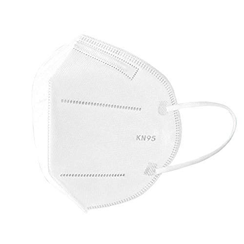 White 5-Layer Filtration Face Mask, Liquid and Dust Face Protection, LARGE Size Fits Most Adults (Pack of 25 Masks)