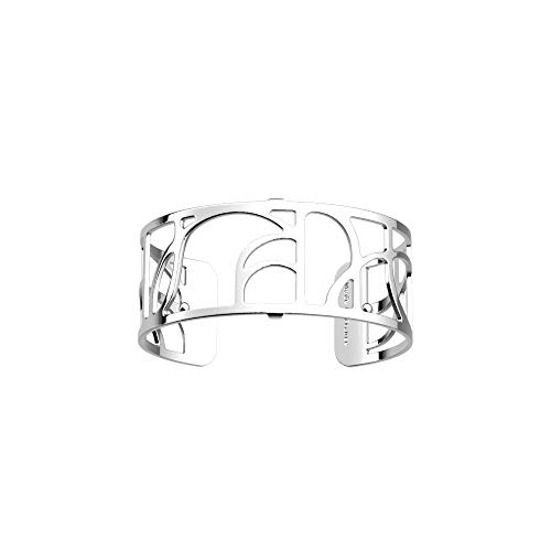 Les Georgettes Damen Armreif - Les Essentielles Volute Spirale - Medium, Farbe:Silber, Armreif-Breite:25mm