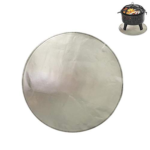 Hongzhi Fire Pit Mat for Deck - Fireproof Mat - Deck Protector for Wood Burning Fire Pit BBQ Smoker - Fireplace Hearth Rug Ember Pad - Fire-Resistant Round Grill Mat for Patio Lawn Floor Ground Porch