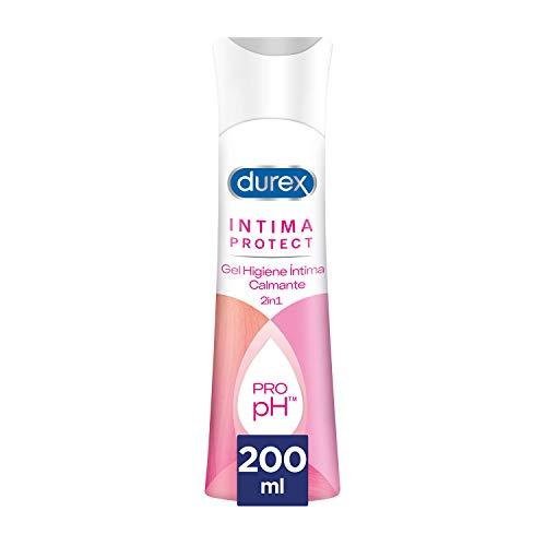 Durex Íntima Protect Gel Higiene Íntima Calmante 2In1, Fórmula Pro-Ph, Hipoalergénico Y Libre De Colorantes Artificiales - 200 ml
