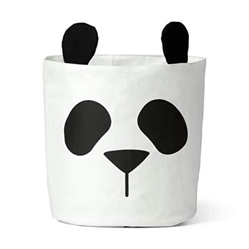ZAIZAI Bolsa de almacenamiento cesta para bebés y niños, ropa de juguete de lona, cesta de almacenamiento puede soportar pañales cubo de almacenamiento para el hogar