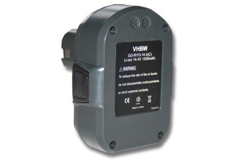 Preisvergleich Produktbild vhbw Li-Ion Akku 1500mAh (14.4V) für Werkzeuge Ryobi LLCD14022,  LLCD 14022 wie Ryobi BPL1414.
