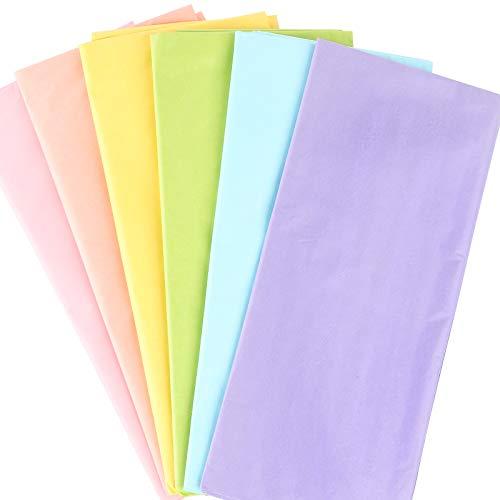 60 Blatt Seidenpapier Bunt für Geschenkpapier Geschenk Verpackungsmaterial 50 x 66cm Seidenpapier Einwickelpapier zum Basteln und zur Dekoration für Ostern Geburtstag Hochzeit Weihnachten