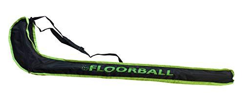 HALE Floorball/Unihockey Schlägertasche Striker JUNIOR, für 1-2 Schläger bis Schaftlänge 92 cm (schwarz/Lime)