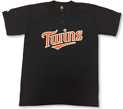 Minnesota Twins Two-Button Men's Jersey T-Shirt Large