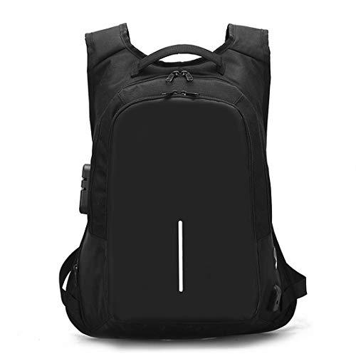 Mifusanahorn Laptop Backpack Lock Anti Diefstal met USB-poort en koptelefoon Plug Past 15.6 Inch